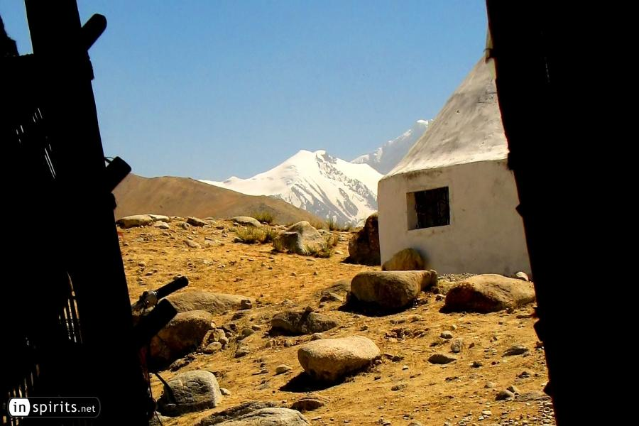 Yurt in Pamir Mountains near Muztagh Ata