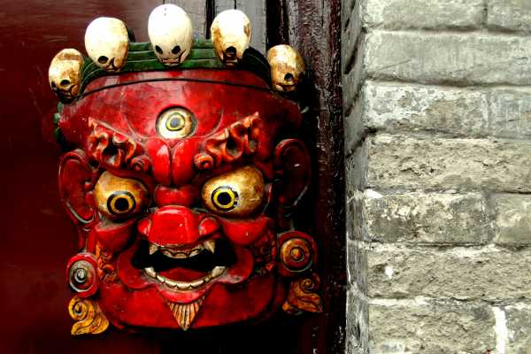 Mask in a Beijing Hutong