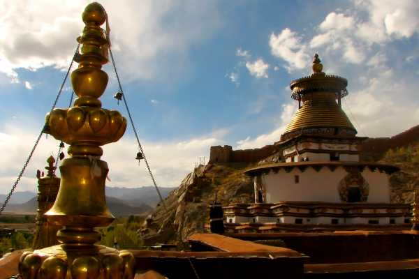 Gyantse Kumbum and Monastery in Tibet