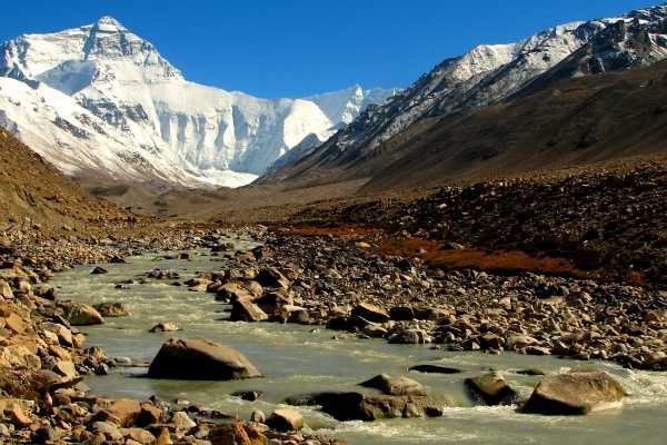 River at Mount Everest