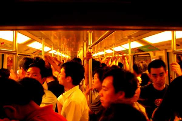 A feeling of claustrophobia in the Shanghai Metro
