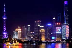Shanghai's Skyline Lights Up for New Year